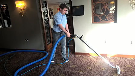 Resterant carpet being cleaned by Robin Ray in Newton Abbot