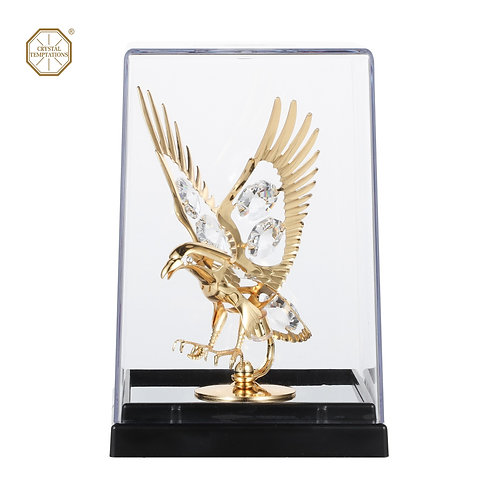 24K Gold plated iron Eagle table decoration with Swarovski crystals
