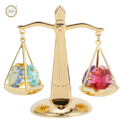 24K Gold plated iron table decoration (Scale) with Swarovski crystals