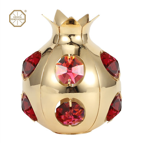 Gold plated iron table decoration (Pomegranate) with Swarovski crystal