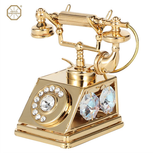 24K Gold plated iron table decoration (Telephone) with Swarovski cryst