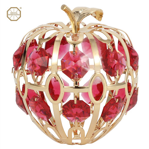 24K Gold plated iron table decoration (Apple) with Swarovski crystal