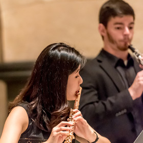 Minkyung Kim, flute, and Patrick Grimone, oboe.