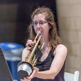 Ohio River Brass Quintet: Audrey Schmid, muted Trumpet.