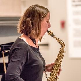 Prestalgia Duo: Jennifer Grantham, saxophone.