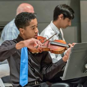 Cincinnati Young Artists: Maxwell Fairman, violin, Daniel Dorsey, cello, Arun Kamath, piano.