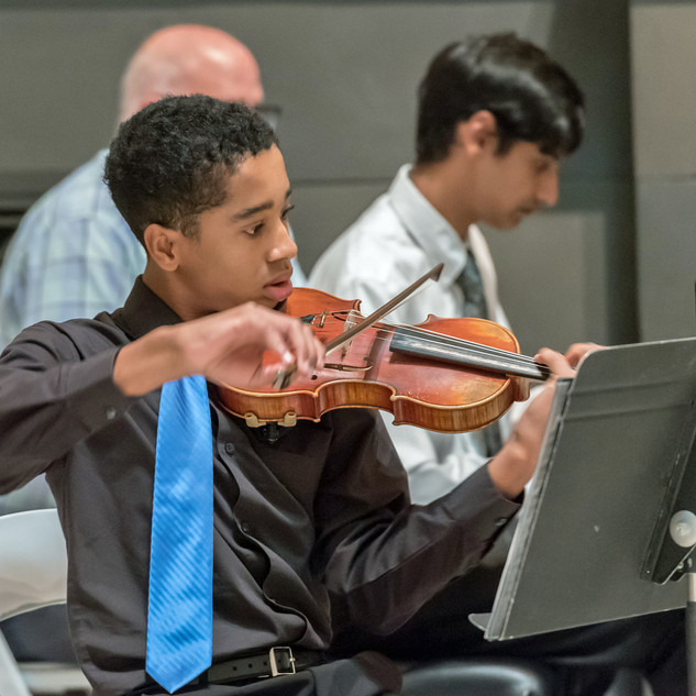 Cincinnati Young Artists: Maxwell Fairman, violin, Daniel Dorsey, cello, Arun Kamath, piano.
