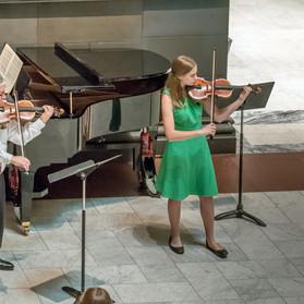Vincent Phelan, Maggie Flanders, violins; Heidi Flanders, piano.