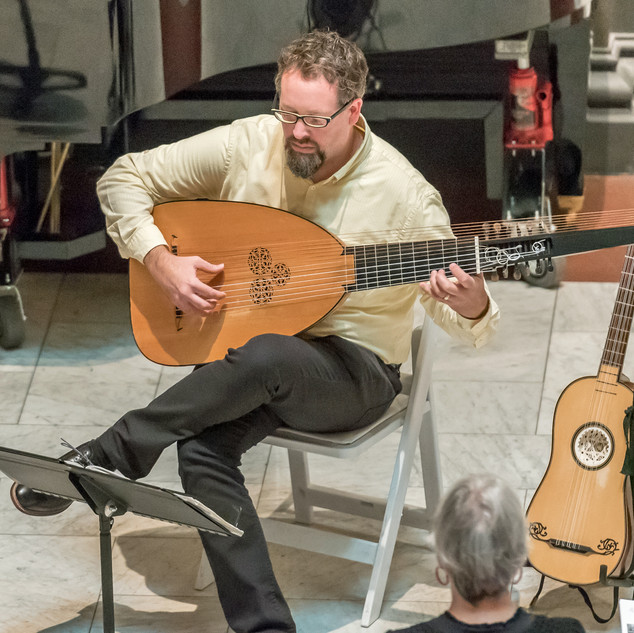 Caladrian Ensemble: Christopher Wilke, lute.