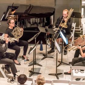 Ohio River Brass Quintet: Audrey Schmid, Trumpet, Dave Zeng, Trumpet, Emily Toth, Horn, Kelly Mills, Trombone, Sean McGhee, Bass Trombone.