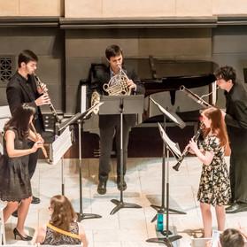 Highland Quintet: Minkyung Kim, flute, Patrick Grimone, oboe, Taylor Overholt, clarinet, Phillip Palmore, French horn, Donald Forman, bassoon.