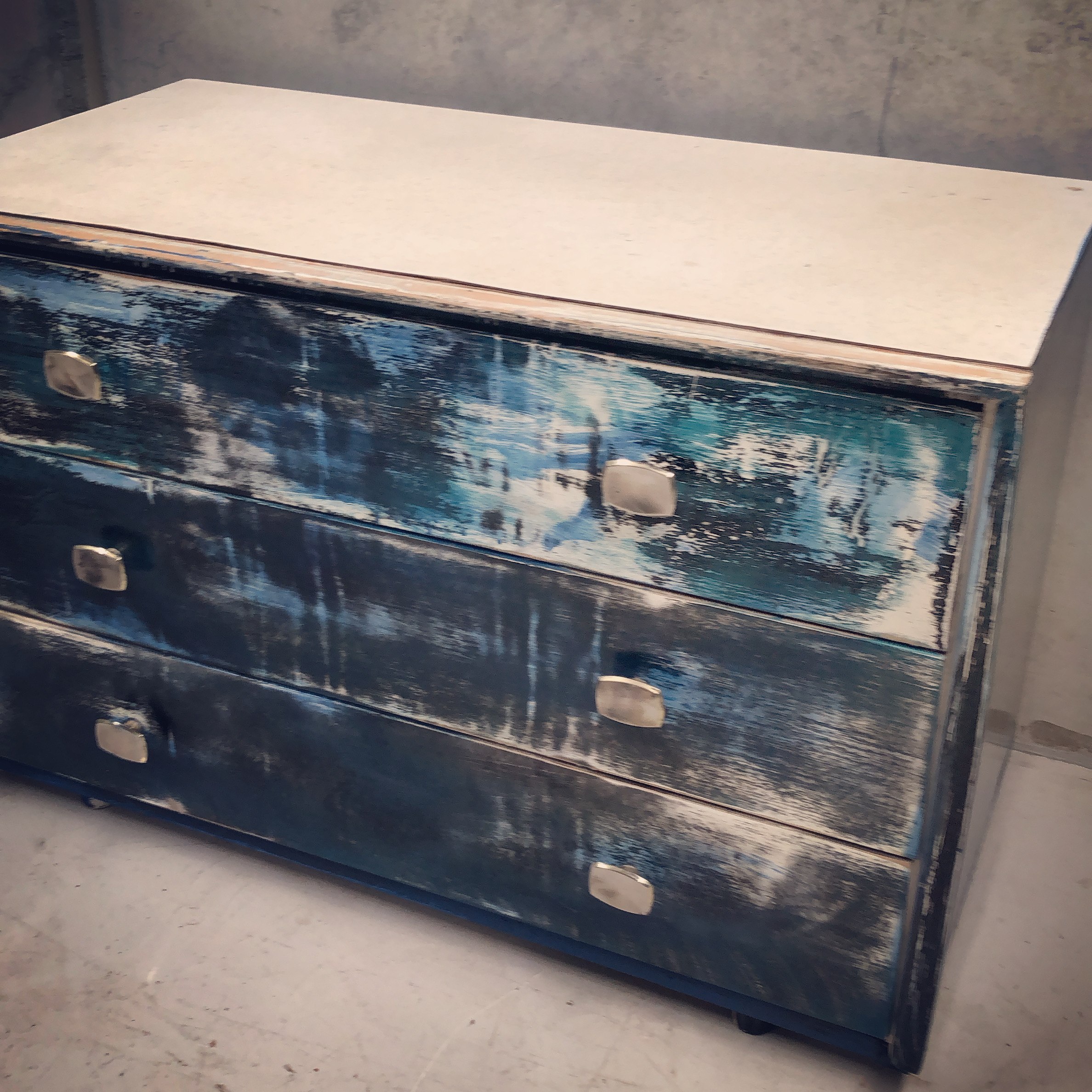 Artists vintage drawers