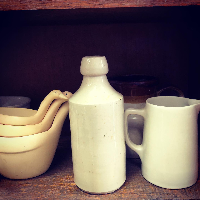 stone ware and milkjugs