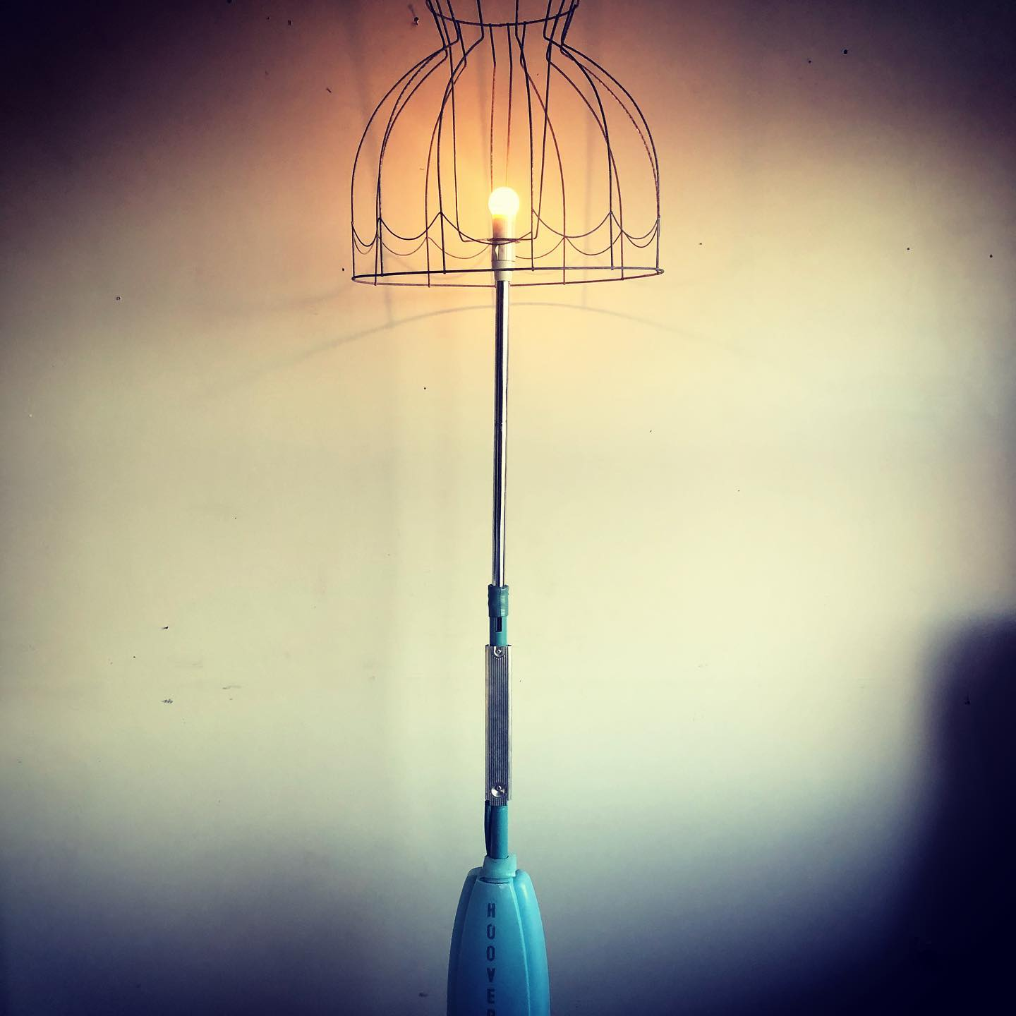 Hoover up-cycled lamp