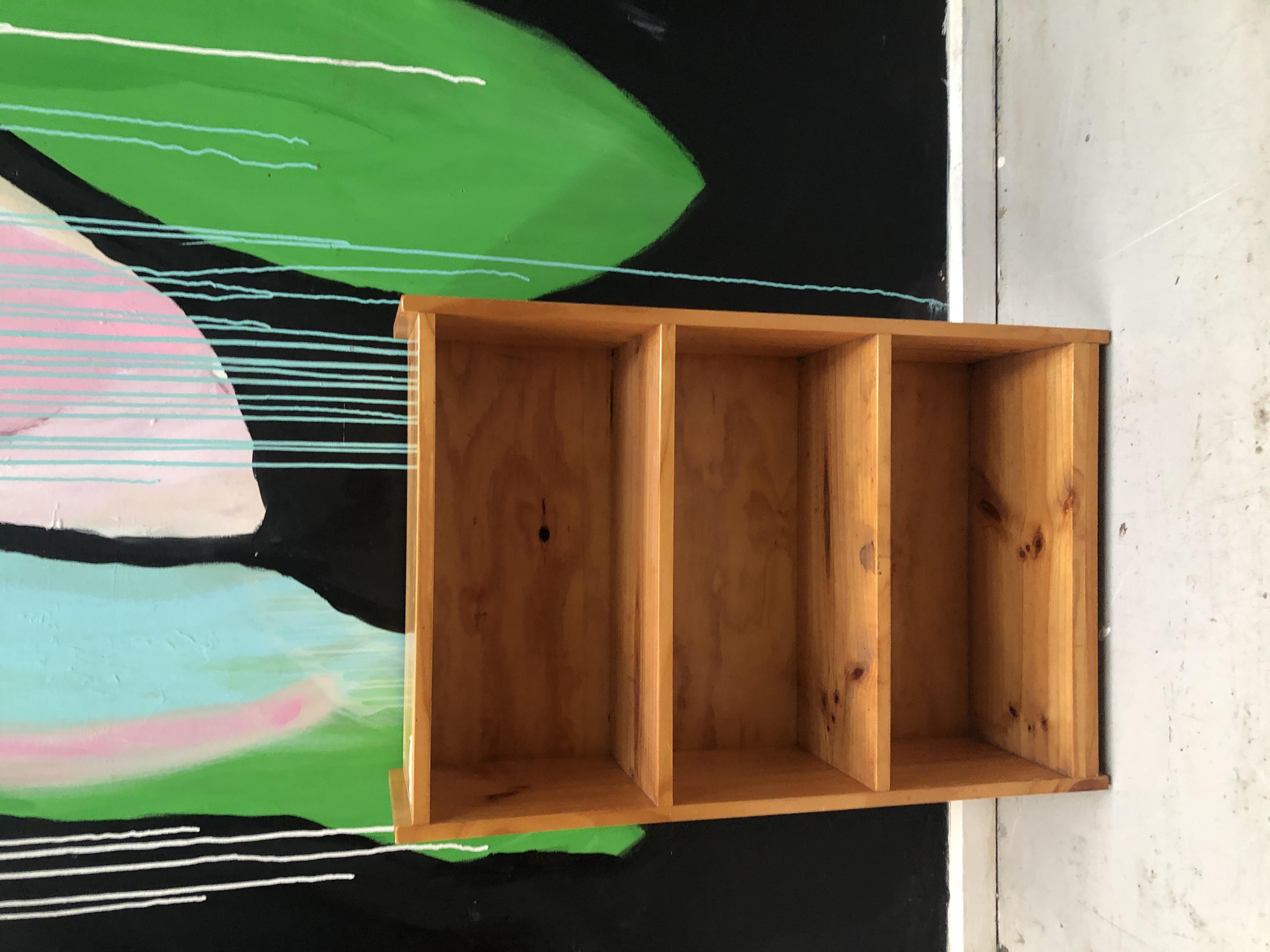 pine small bookshelf`