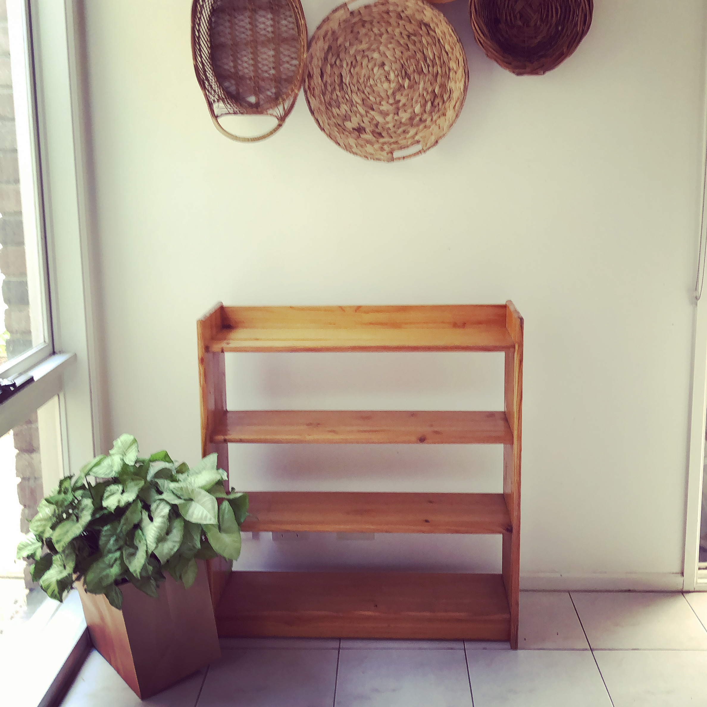 Solid pine vintage shelf
