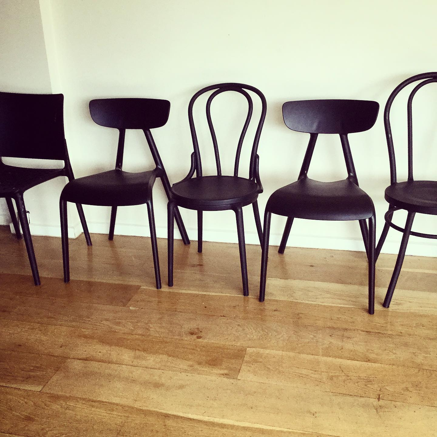 6 Matt Black dining chairs