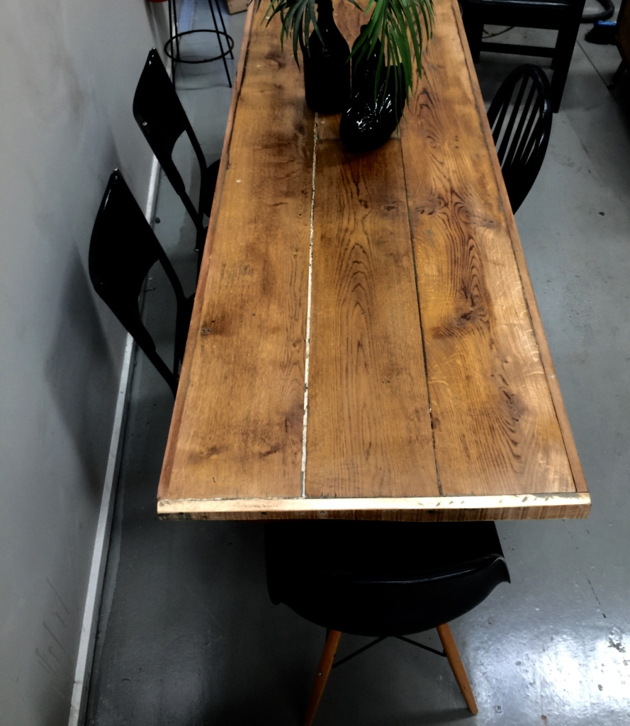 reclaimed board table