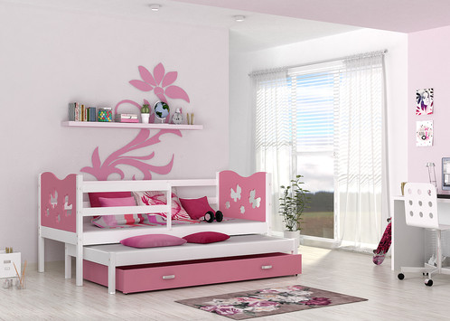 Single Pull Out Bed MAX P2 For Kids With Mattrasses