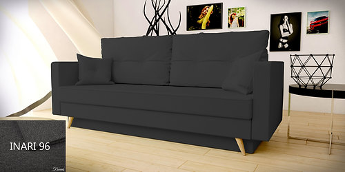 Sofa Bed ASTRA With Poufs And Cushions