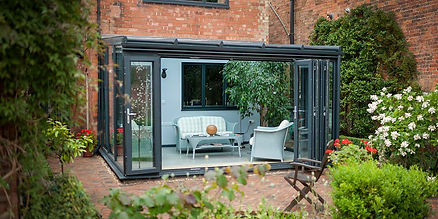 Grey Modern Lean To Conservatory Liverpool
