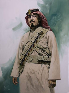 King Abdullah bin Abdulaziz oil painting by Dia Aziz Dia