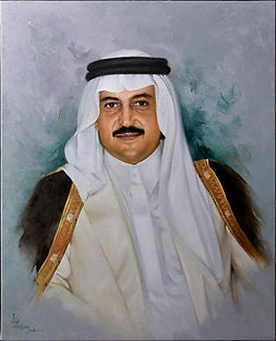 Prince Bandar Alfaisal - oil on canvas by Dia Aziz Dia