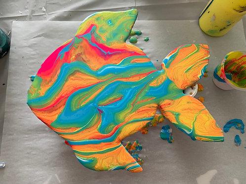 Fish Wood Cutout Paint Kit