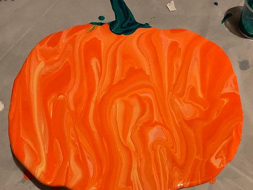Pumpkin Wood Cutout Paint Kit