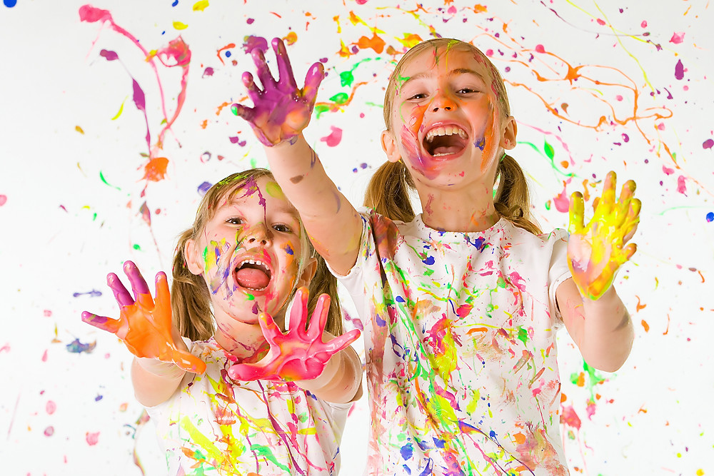 When you think of a paint party for kids, I am sure this is what you are thinking. When you see videos of acrylic pouring you cringe at the thought because all the paint is spilling off the canvas. We are here to put your worries to rest. We have perfected the science of acrylic pouring and the clean up. You won't even know that you had a paint party when we are done. Painting does not have to be messy!