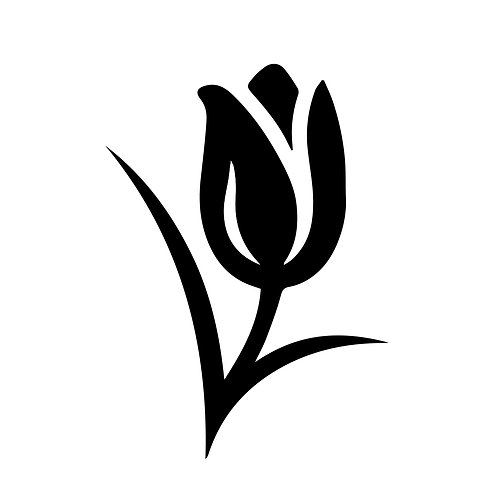 Vinyl Tulip Decal