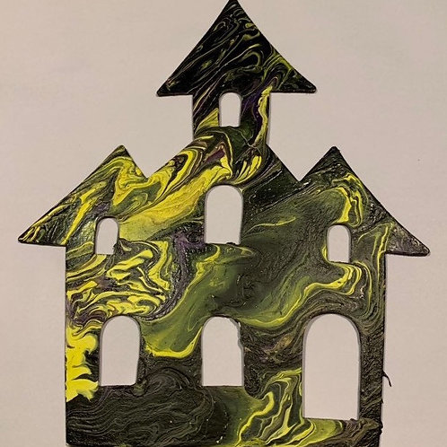 Haunted House Wood Cutout Paint Kit
