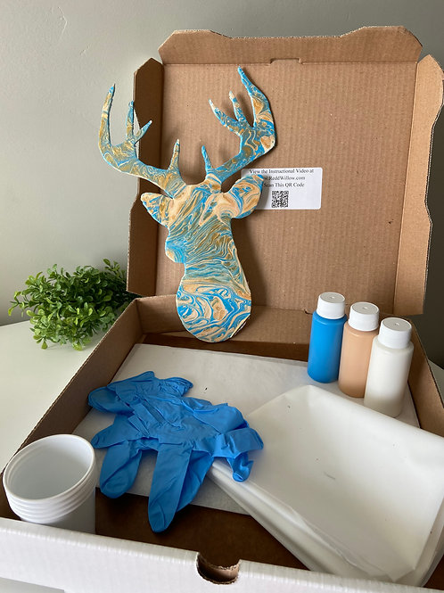 Deer Wood Cutout Paint Kit