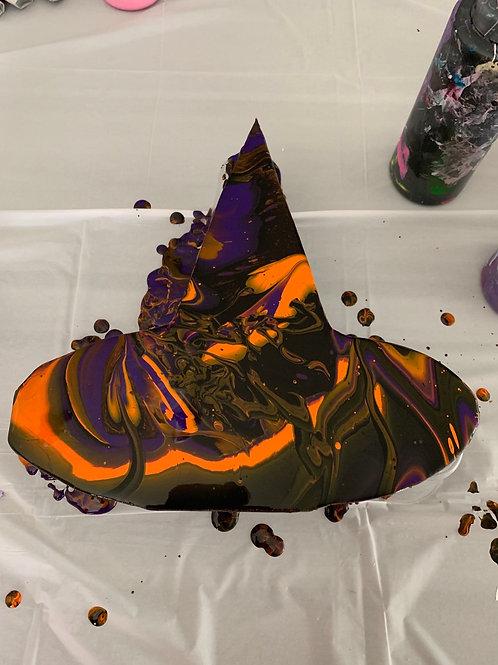 Witches Hat Wood Cutout Paint Kit