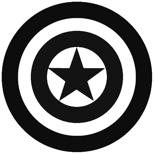 Vinyl Captain America Decal