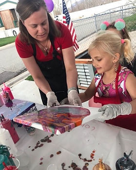 Outdoor paint party. Painting for all ages!