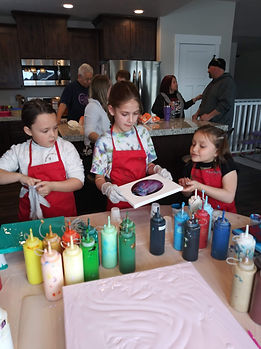 Paint parties for all ages. Fun and easy to do.