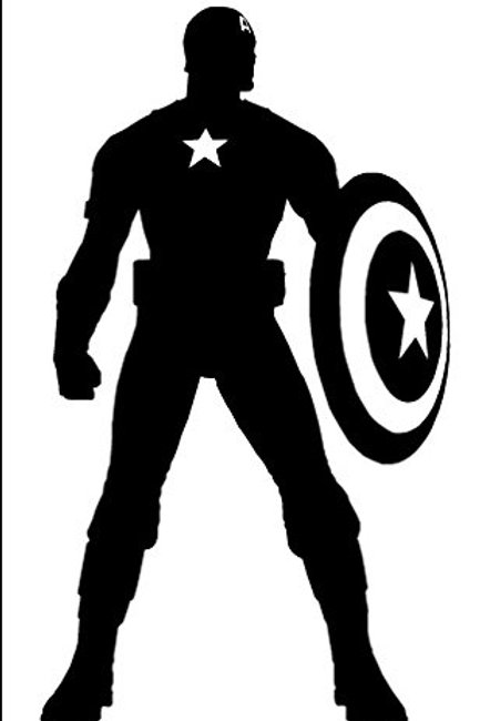Vinyl Captain America Decal 2