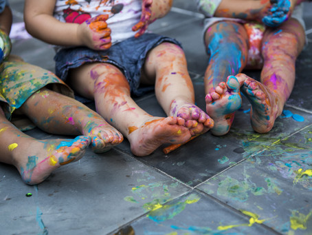 Anxiety Around Letting Kids Paint
