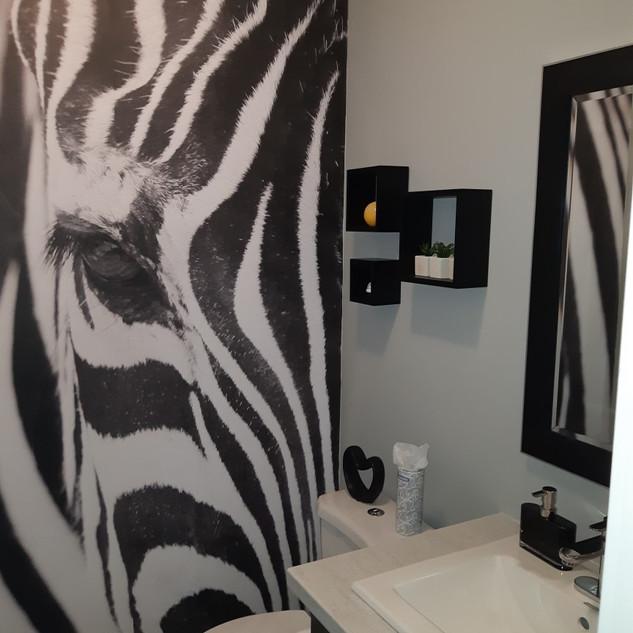 Salle d'eau zebra