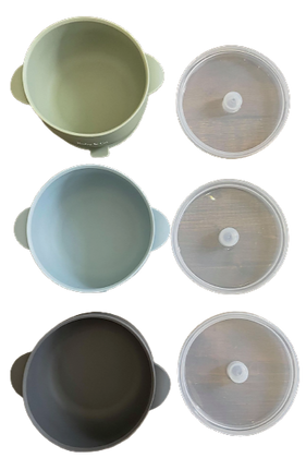 Classic Suction Bowl with Lid