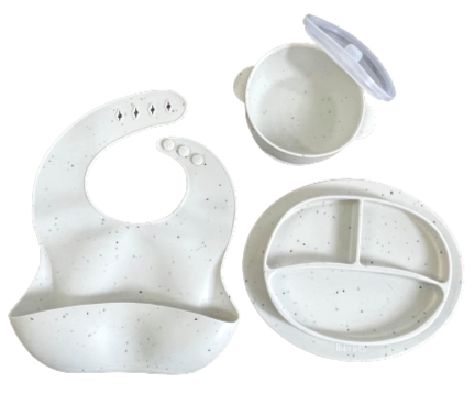 White Speckled Dinnerware