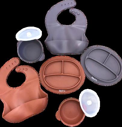 Plum & Terracotta Silicone Dinnerware