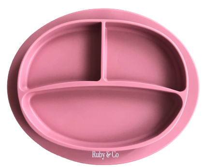 The Ruby -Silicone Plate -Dusty Rose