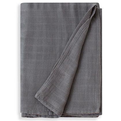 Charcoal Gray Swaddle Blanket