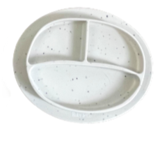 White Speckled Suction Plate