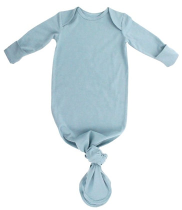 Baby Knotted Gown - Dusty Blue