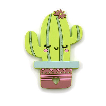 Happy Cactus Silicone Teether