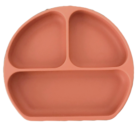 New Style Silicone Suction Plate - Pumpkin