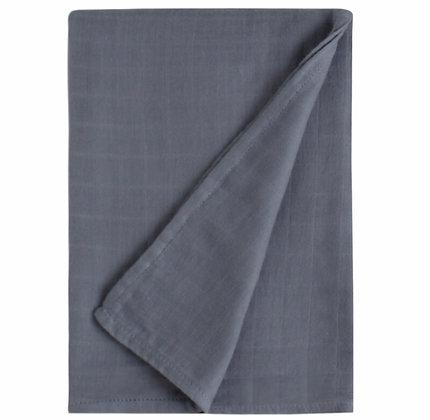 Muslin Swaddle Blanket - Cobalt